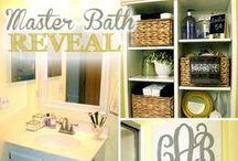 Curly Crafty Mom's Master Bathroom & Ideas / by Carrie @curlycraftymom.com