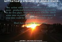 "Motivation in a Minute™ by Jerald Simon / ""My purpose and mission in life is to motivate myself and others through my music and writing, to help others find their purpose and mission in life, and to teach values and encourage everyone everywhere to do and be their best."" - Jerald Simon  Brief Bio: Jerald Simon is the founder and president of Music Motivation®. As an entrepreneur, he loves business, composing music, and writing poetry and motivational self help books. He is a music educator, professional speaker, and life coach."
