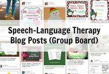 Speech-Language Therapy Blog Posts / This is a board for speech-language pathology bloggers to submit their posts to for others to find all in one place! Please only submit your own blog posts (direct link to post; no TpT links; list price/free; only one pin/post) and guest posts you have done on other websites to this board. Those pins that do not follow these rules will be deleted. If you write a speech-language therapy blog, have a Pinterest account, and would like to be added to this board, please contact Consonantly Speaking.