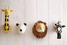 Nursery trends: Animal heads / Habitaciones infantiles, decoración infantil: cabezas de animales