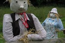 Making Scarecrows / Scarecrows for the allotment - ideas and inspiration. One of the things we'd love to have on our allotment is a scarecrow. Perfect for scaring away birds trying to eat our seeds and seedlings. Thing is, we can't decide on a design...so I'm gathering together as many ideas as I can!