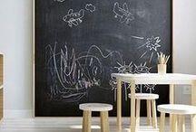Nursery trends: Chalkboard wall / Pizarras divertidas en habitaciones infantiles