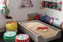 Nursery trends: ON the floor / Tendencias en decoración infantil: el colchón al suelo! La mejor forma para hacer la transición de la cuna a la cama sin sobresaltos, al estilo Montessori