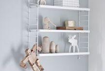 Nursery Trends: String shelves / Estanterias string en habitaciones infantiles