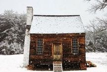 Cabin / in my snow-filled dreams I'd live here