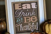 Thanksgiving & Pumpkin EVERYTHING! / Tips, Decor, Recipes, & Printables for Turkey Day!