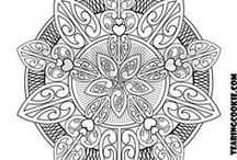 Colouring In Pages / Artistic Colouring In Pages