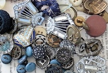 Buttons Galore / I could never have enough Antique/Vintage Buttons..my cabinet is filled with jars of them and old wooden boxes overflow...still could sit and look through them for hours...