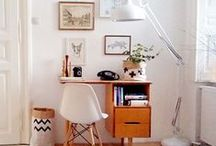 HOME // a place to be creative - desks and work spaces / Workspaces and office areas that are so dreamy, all you'll want to do is WORK WORK WORK!