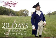 The Road to Valley Forge / Follow the Continental Army as they make their way to Valley Forge. Then, on December 19, go to Valley Forge National Historical Park's Annual March-In Commemoration and take a lantern-lit tour to a living history display at the huts.