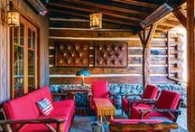 """Rustic porches / Rustic porches for sitting' or sleepin""""  Here are some of our favorites. If you'd like to contribute, follow our boards & please leave a message on a new post. Thanks! http://rusticartistry.com"""