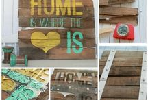 Canvas and wooden art to make / So going to make these to sell