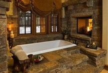 Rustic Bathrooms / We love rustic bathroom decor. Here are some of our favorites. If you'd like to contribute, follow our boards & please leave a message on a new post. Thanks! http://rusticartistry.com
