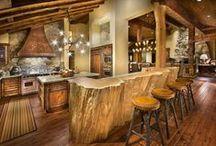 Rustic Kitchens / We love small and large rustic kitchens! Here are some of our favorites. If you'd like to contribute, follow our boards & please leave a message on a new post. Thanks! http://rusticartistry.com