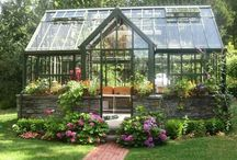 greenhouses/garden work spaces / by Jeanne Scottie mom