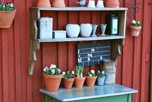 potting benches/tables / by Jeanne Scottie mom