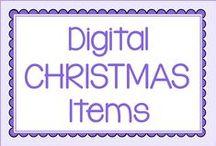 Digital Christmas: Clip art, papers, etc.