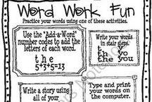 Word Work / by Cassandra Romero