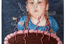 fabric portraits / depicting people with fabric...