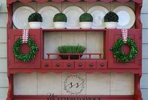 Christmas hutch / by Jeanne Scottie mom