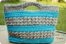 Crochet purses, bags, & baskets