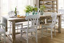 Dine here / Dining room decor / by Heather Wince