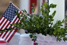 Summer Parties / Great ideas for having get-togethers during the summer and adding red, white, and blue to your Memorial Day, 4th of July, and Labor Day parties!
