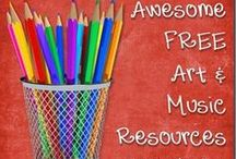 Ultimate List of FREE Resources for Art & Music Study / Free online resources to aid you in studying the fine arts in your homeschool.
