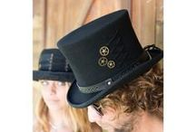 Steampunk Hats / Steampunk fashion is inspired by 19th century steam powered machinery and Victorian era clothing. We focus on top hats with clock wheels, chains and fantasy lace but leave enough room for your own unique additions to our hats. Steampunk hats, Steam punk hats, Wool hats, Felt hats, Steampunk fashion, Steampunk style, Mens style, Costume hat, Top hat, Steampunk accessories https://connerhats.com/collections/steampunk-hats