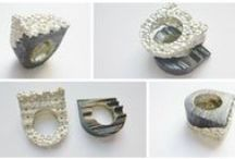 Rings / Contemporary handmade rings made of silver 925