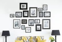 Pictures on the Walls / Framed pictures, canvases and much more cool ideas for your home walls.