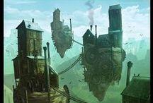 Sci-fi, fantasy, apocalypse, steampunk, dystopia