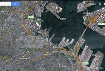 Googling around Tokyo and Yokohama  / Peeping the World through Google's Eye, you can find a new feature of the world.