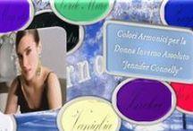 La Palette dei Colori Amici per la Donna Inverno Assoluto.  / I colori amici sono, secondo i principi dell'armocromia, tutte quelle tinte, e le loro sfumature che, se accostati al volto, maggiormente ne valorizzano l'incarnato, facendolo risplendere