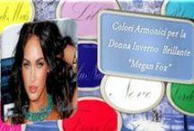 2 La Palette dei Colori Amici per la Donna Inverno Brillante. / I colori amici sono, secondo i principi dell'armocromia, tutte quelle tinte, e le loro sfumature che, se accostati al volto, maggiormente ne valorizzano l'incarnato, facendolo risplendere
