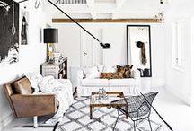 .living room + office