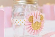 Pink & Gold Minnie Mouse Party by Lysi