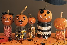 happy halloween / halloween, trick or treat goodies, ghosts, goblins, candy