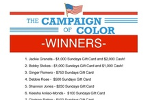 Campaign of Color / The Campaign of Color contest at Sundays Blue Box Tanning Resort happens 9/7/12 through 10/31/12! Learn how to win cash prizes and free tanning!