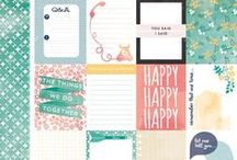 Project Life / Project life inspiration - both spreads and items/tools that would be great for it. Also free printables (journaling cards, tags, circles etc), some of which I design myself!
