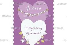 Zazzle ~ Bridesmaids / ♥ Zazzle frequently change discount codes, so always check before paying ♥ Will you be my Bridesmaid