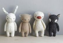 """Plush animals / Plushies. Because I love 'em. And just like K's Choice said: """"Stuffed animals are always right.""""  (You like this? Check out my other plush boards!) / by Marina"""