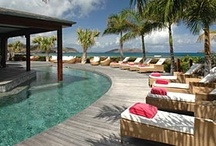 Glorious Private Pools of St. Barth Properties' Villas / On the island of St. Barth, the pools at the private villas come in all shapes and sizes and often compete with breathtaking ocean views.  Enjoy both, whether you're swimming laps, floating toes-up or just relaxing pool-side on a cushioned chaise lounge. It's part of the villa lifestyle!
