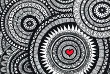 Zentangles, mandala's and doodles / I love zentangles and such. If only I had just a little more patience... / by Marina