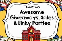 Giveaways, Sales and Linky Parties / Great board for Elementary Teachers to check out some awesome giveaways, sales and linky parties.