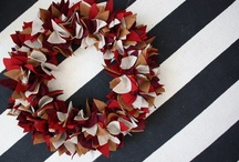 """Door Dress Up / There are SO many ways to """"fancy up"""" your font door for the season or holiday, and you don't have to break your bank doing it!  We love thinking of new ways to dress up our store entry door for the season.  Maybe this board will inspire some creativity in you, too!"""