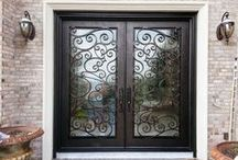 Doors by Design - Iron Doors / This board is where we share some of our before/photos, and cool job and product pics of our gorgeous wrought iron doors.  We always have something interesting going on!