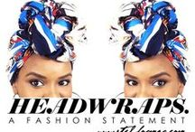 Headwraps / Get Inspiration for Fabulous headwraps for natural hair. Shop Real Plant Based Hair Care www.indigofera.com