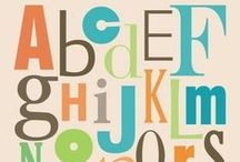 Alphabet / All things alphabet + teaching those youngsters their letters.