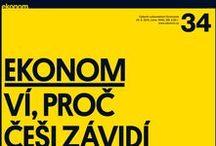 Ekonom / Titulní strany týdeníku Ekonom